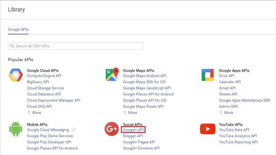 Google API - Library