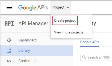 Google API - create project