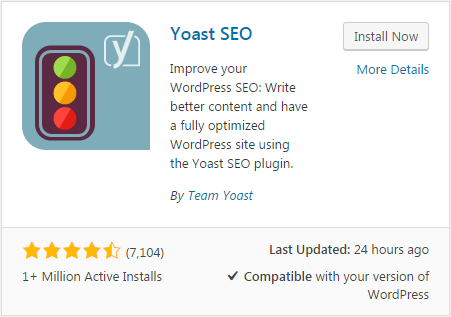 Yoast SEO plugin - WordPress view
