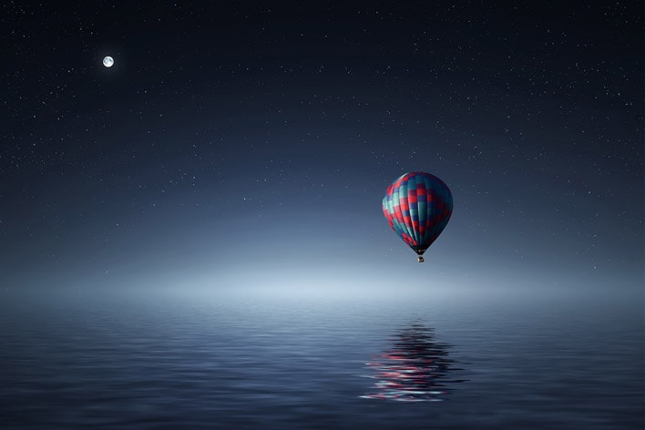 Baloon floating in Mind-Space