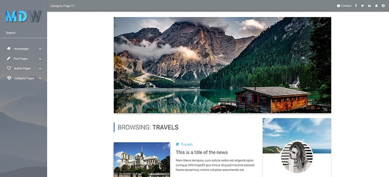 Category Page - Material Design for WordPress