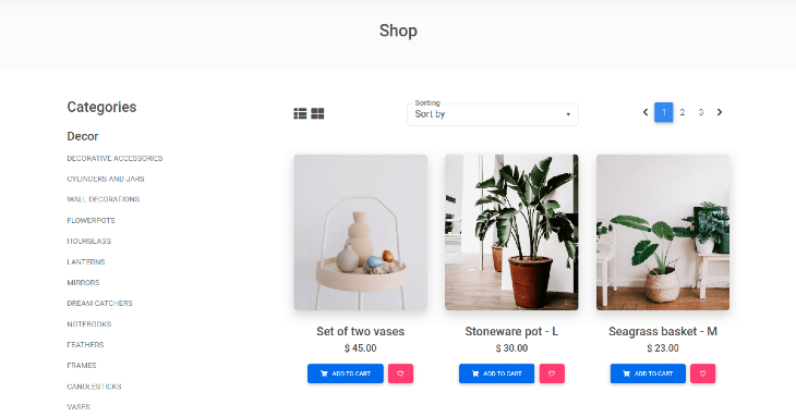 Example eCommerce Login Page