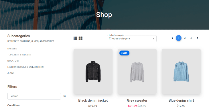 Example eCommerce Homepage