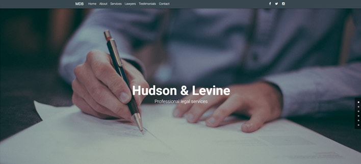 Legal Portfolio - Material Design for WordPress