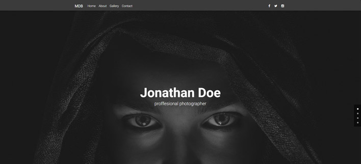Minimalistic Portfolio - Material Design for WordPress
