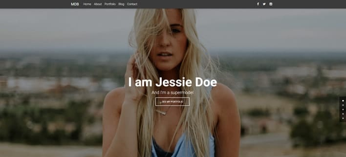 Model Portfolio - Material Design for WordPress