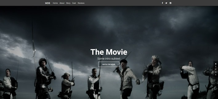 Movie Portfolio - Material Design for WordPress