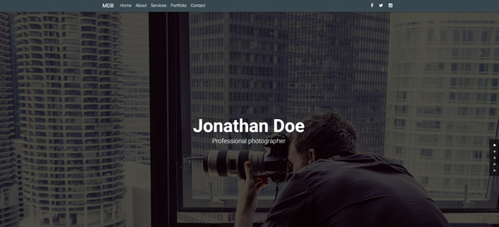 Photography Portfolio - Material Design for WordPress