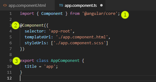 App.component.ts file