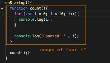 var variable scope.