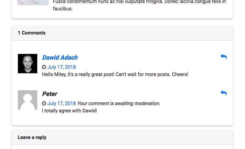 Second comment