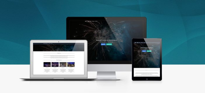 A view of Bootstrap basic landing page template
