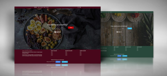 Food Order Homepage - Material Design for Bootstrap
