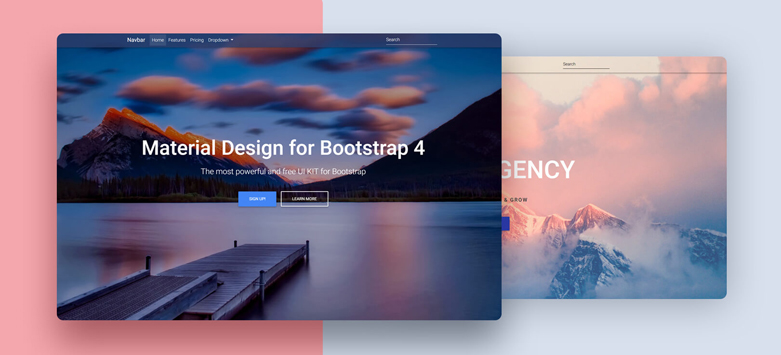 Full Background Image Template - Material Design for Bootstrap