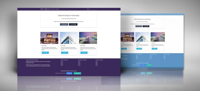 Jumbotron with Features Template - Material Design for Bootstrap