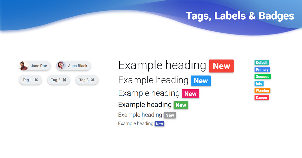 Bootstrap Tags, Labels & Badges - examples, tutorial