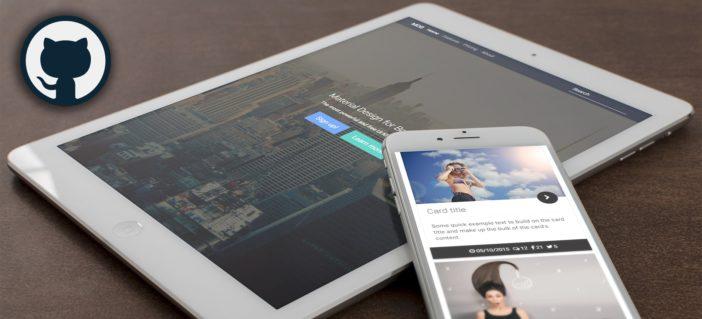 Material Design for Bootstrap on Github