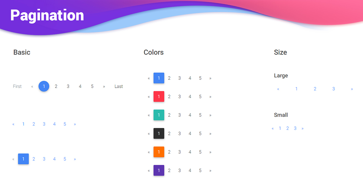 Angular Pagination - Bootstrap 4 & Material Design  Examples