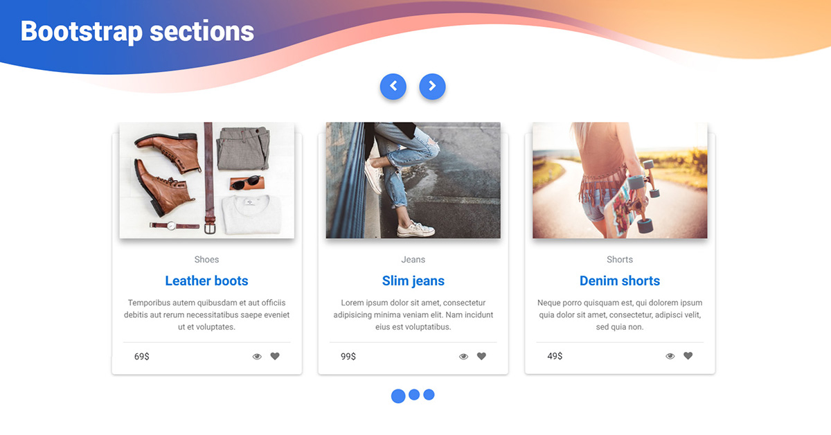 Bootstrap Testimonials Sections - Material Design for Bootstrap