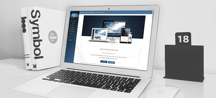 MDB website displayed on laptop