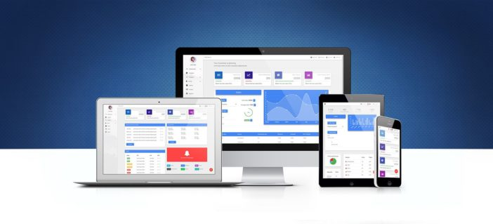 A look on Bootstrap admin templates pack displayed on different devices.