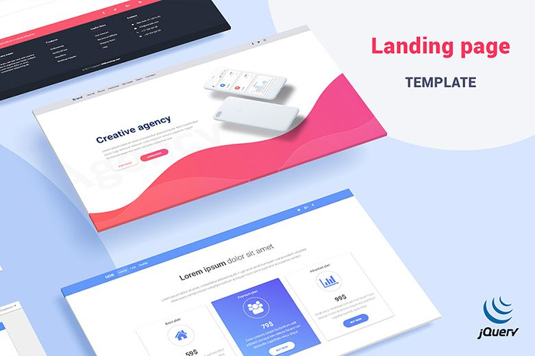 jquery landing page templates - mdb landing page template pro jquery version material