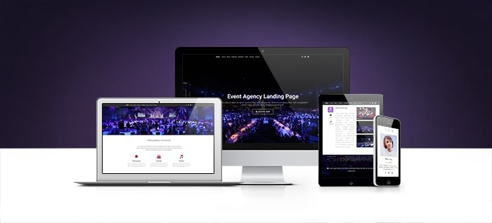 Different views on Bootstrap Premium Landing Page