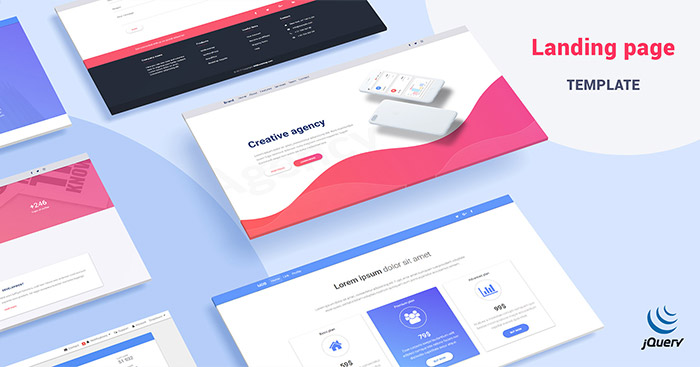 Mdb Landing Page Template Pro Jquery Version Material Design For