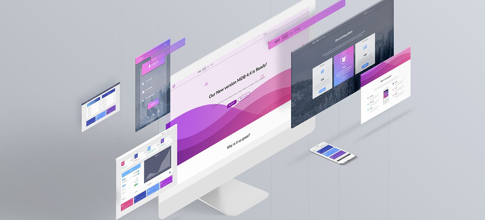 material design for bootstrap 4 pro