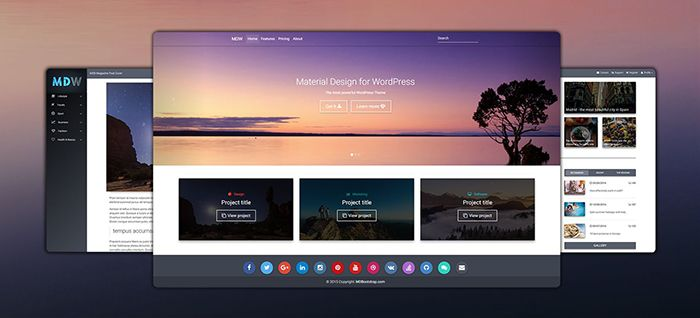 Material Design for Wordpress presentation