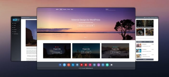 Material Design for WordPress