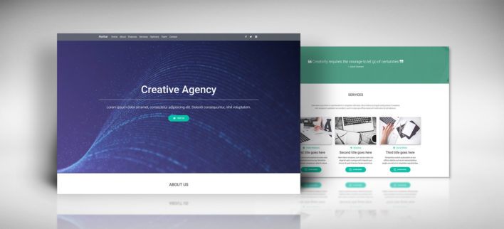 Creative Agency Landing Page for MDB Inspirations
