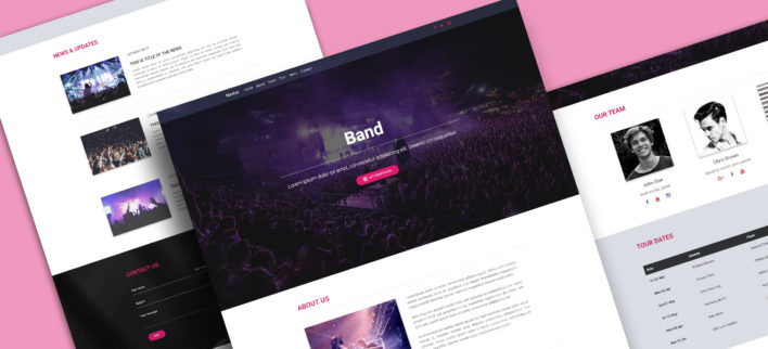 Bootstrap Band Landing Page