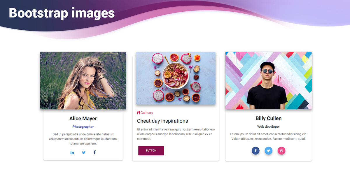 React Images - Bootstrap 4 & Material Design  Examples & tutorial