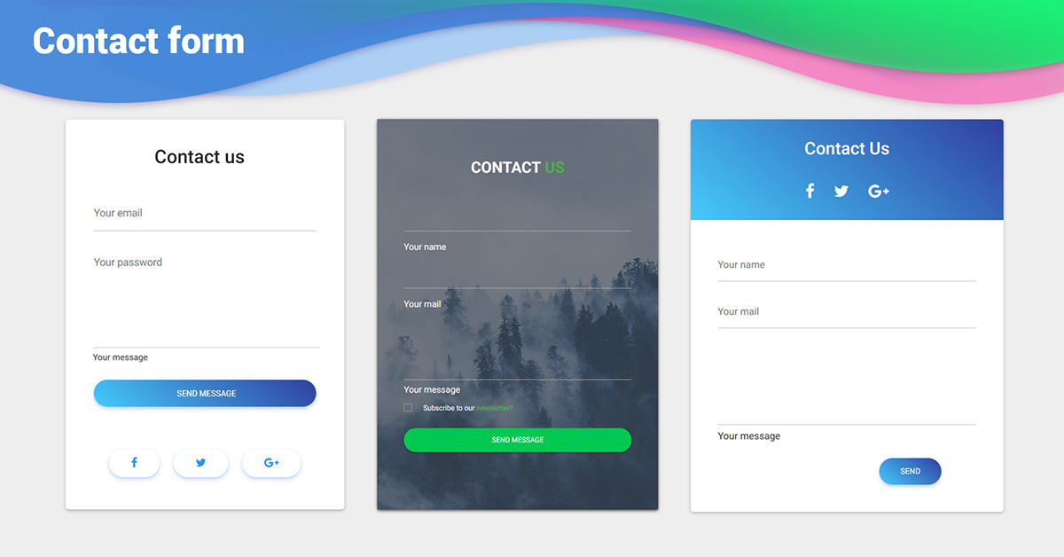 Bootstrap Contact Forms Examples Tutorial Basic Advanced