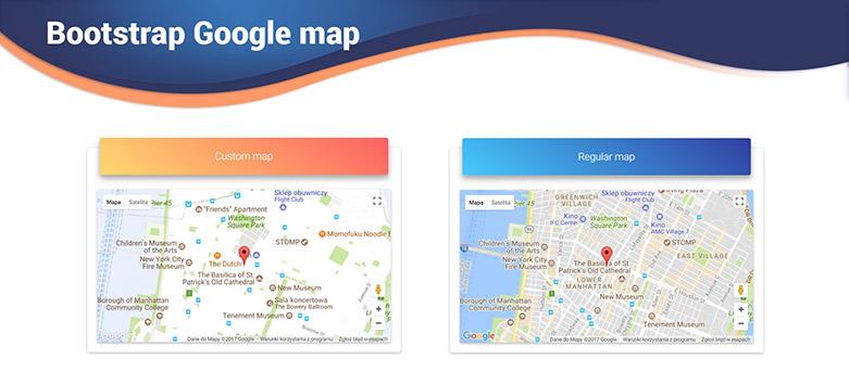 bootstrap google maps