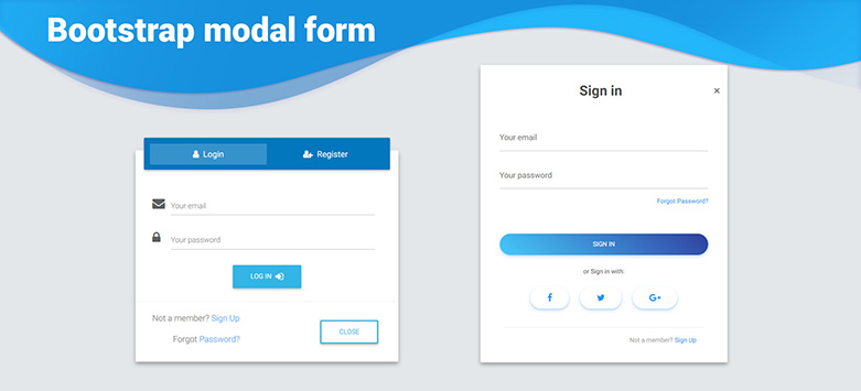 Angular Modal Forms - Bootstrap 4 & Material Design  Examples