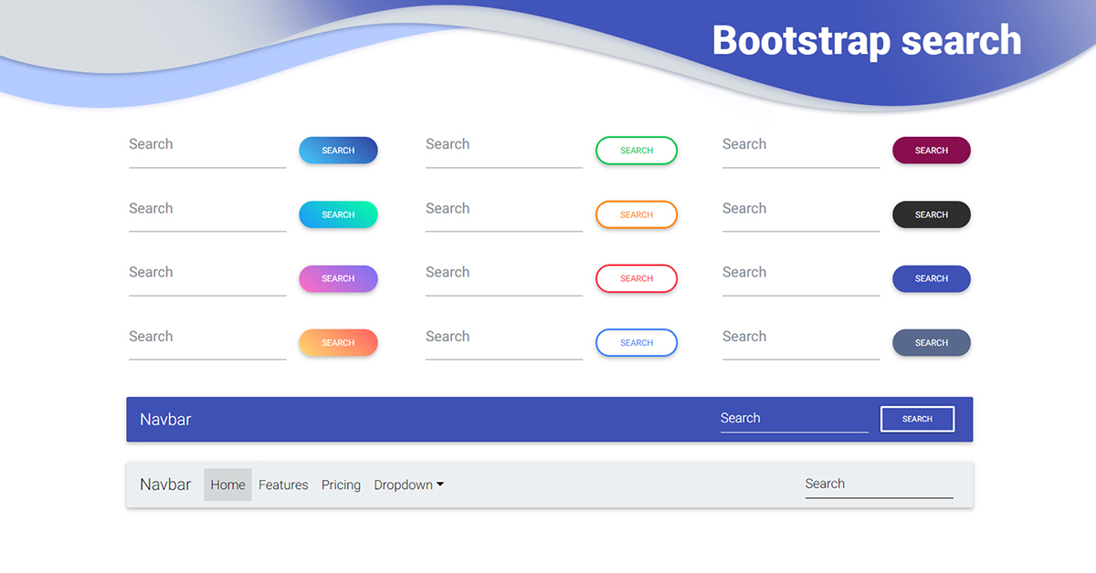 Bootstrap Search Examples Tutorial Basic Advanced Usage