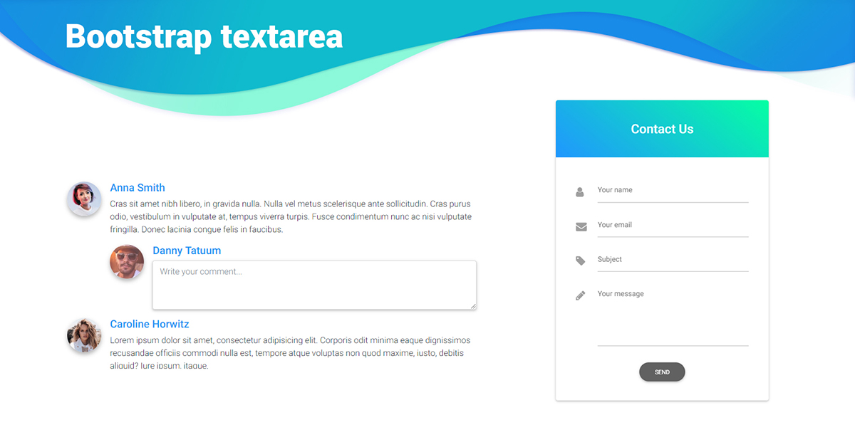 Bootstrap Textarea - examples & tutorial  Basic & advanced usage