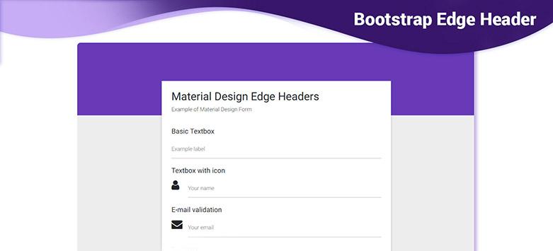 angular edge header  bootstrap 4  material design