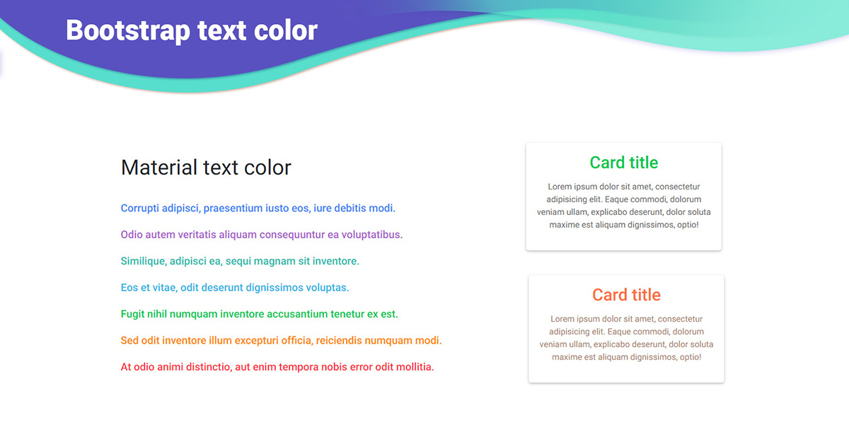 Bootstrap Text Color Examples Tutorial Basic Advanced Usage