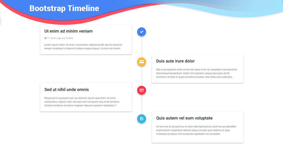 angular timeline  bootstrap 4  material design examples