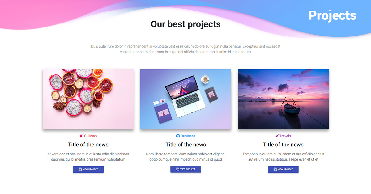 c7a0f4ca Bootstrap Projects sections - examples, tutorial & advanced usage -  Material Design for Bootstrap
