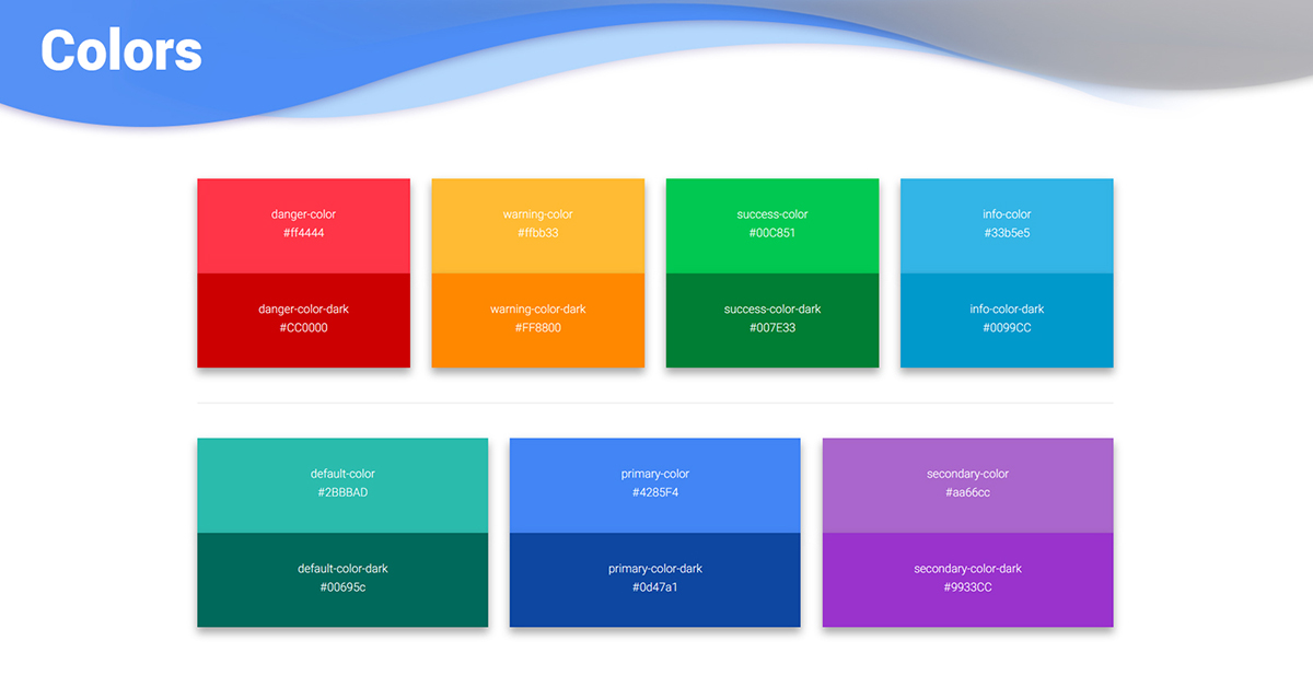300 bootstrap colors examples tutorial basic for Material design table css