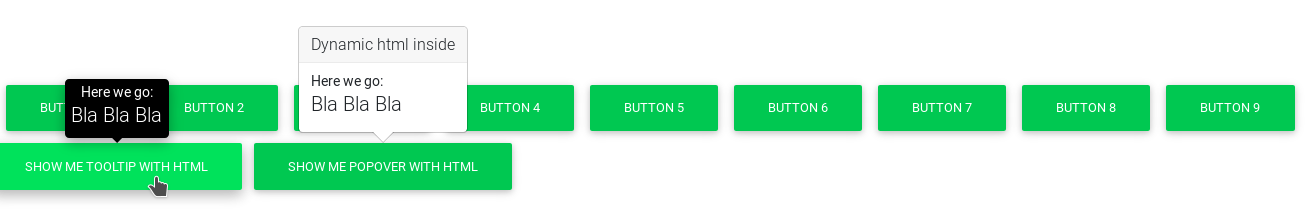 HTML Popover Problem - Material Design for Bootstrap
