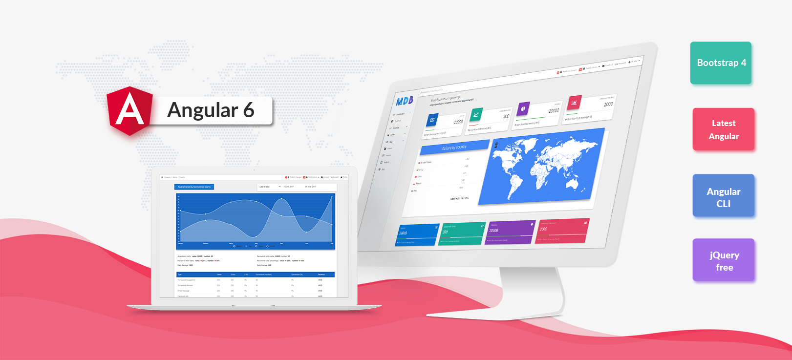 Angular Bootstrap with Material Design - Powerful and free UI KIT