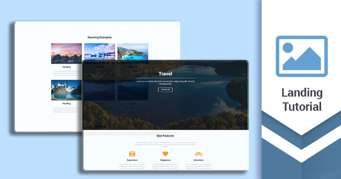 Landing page tutorial - how to build a stunning, responsive