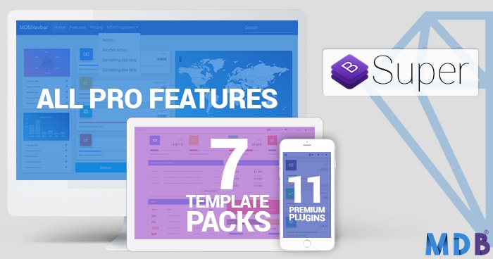 Super Bundle: MDB PRO + All Plugins + All Templates 70% OFF (jQuery version) thumbnail