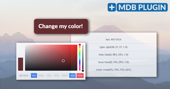 Angular Bootstrap Color Picker plugin - choose a color inside the picker  area