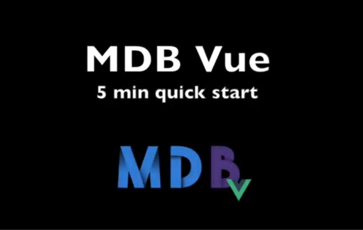 MD Bootstrap Vue 5 min quick start - Material Design for Bootstrap